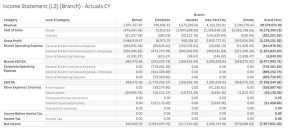 Financial Income Statement
